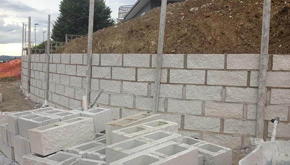 muro di contenimento e di cinta ancona macerata