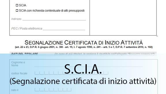 scia segnalazione certificata di inizio attività